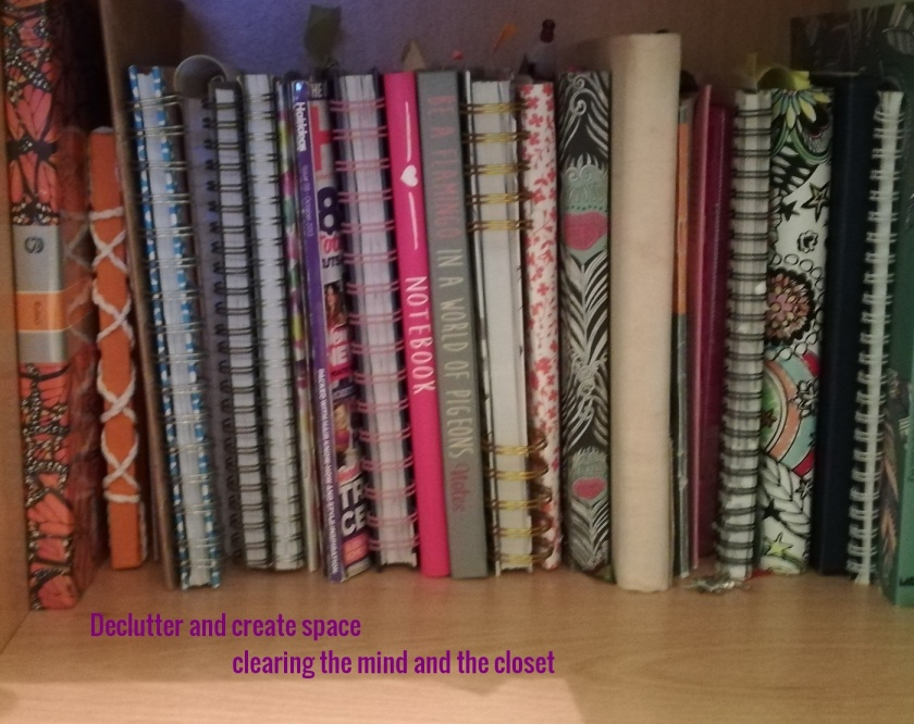 A Shelf of books representing a clean and tidy space after decluttering